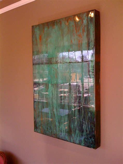 custom  copper art wall piece  super wet