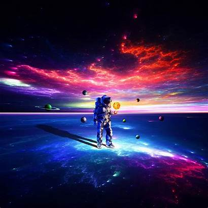 Astronaut Space Suit Colorful Cosmonaut Planets Ipad