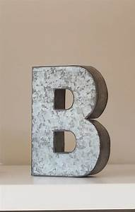 Sale large metal letter zinc steel initial home room decor for Large metal letters home decor