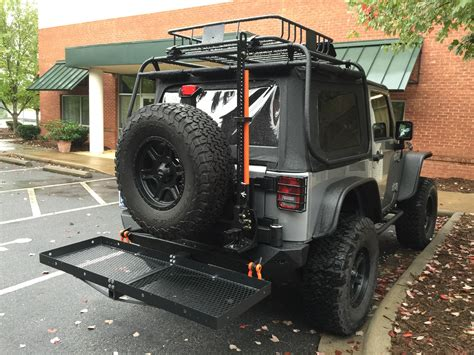 jeep cargo rack sema show jeep build curt cargo racks rightline gear