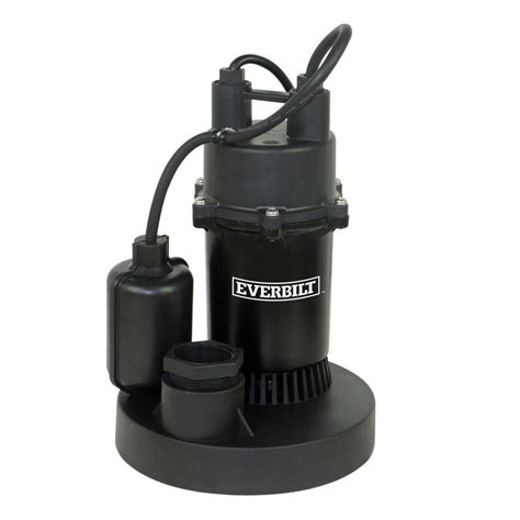 home hardware kitchen faucets everbilt 1 4 hp submersible sump with tether sba025bc