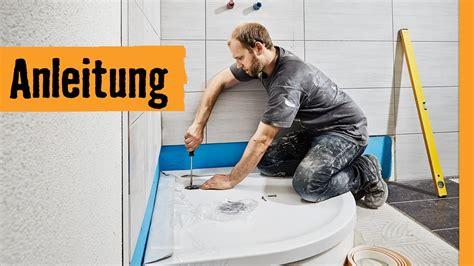 dusche einbauen mit wannentraeger hornbach meisterschmiede youtube