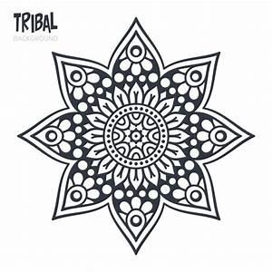 Diseño tribal de estrella de mandala Descargar Vectores gratis