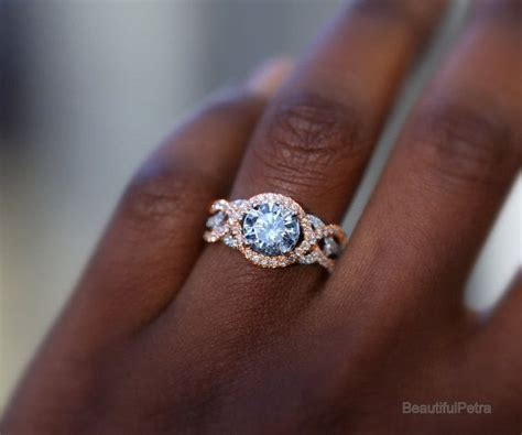 twist of fate 14k white and yellow or rose gold diamond engagement ring halo unique