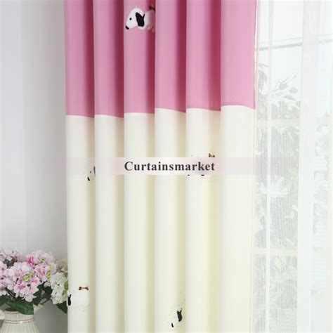 pink and white curtains polka dots pink and white