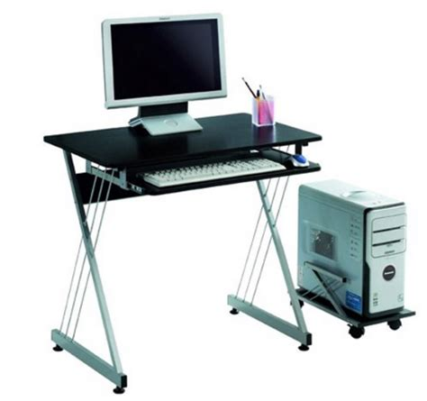 amazon lexmod black office computer desk with rollout