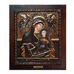 Icon Mary Virgin Wood Carved Venetian Oramaworld