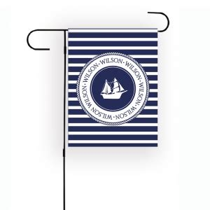 Personalized Boat Flags by Nautical Garden Flag Personalized Garden Flag Boats