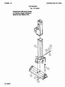 D16x20a Outrigger - Rack Lift - Part  245228001