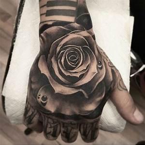 Rose Hand Tattoo on Pinterest | Money Rose Tattoo Hand ...