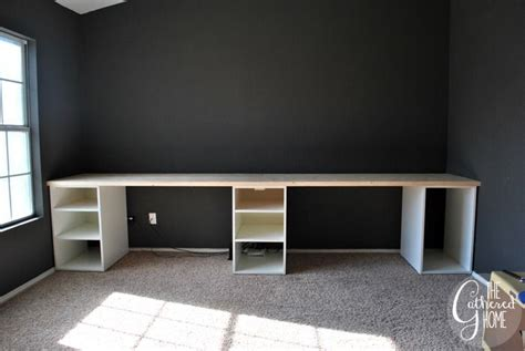 Ikea Hacks Arbeitszimmer by How To Make A Diy Plank Top Ikea Cabinet Desk