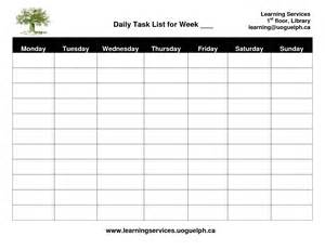 Employee Daily Task List Template