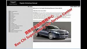 Aston Martin Rapide Workshop Manual  Service Manual