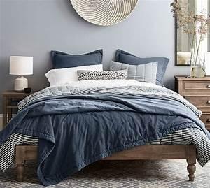 mini stripe comforter sham pottery barn With bed comforters pottery barn