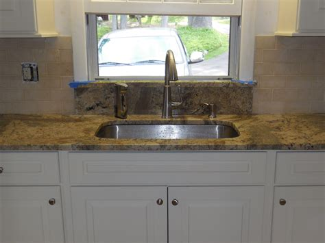 kitchen sinks with backsplash undermount kitchen sink granite window sill limestone