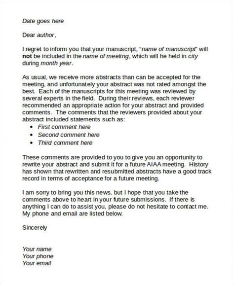 8+ Proposal Rejection Letter Templates - 7+ Free Word, PDF ...