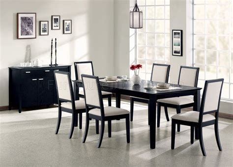 louise dining pc set   black  coaster woptions