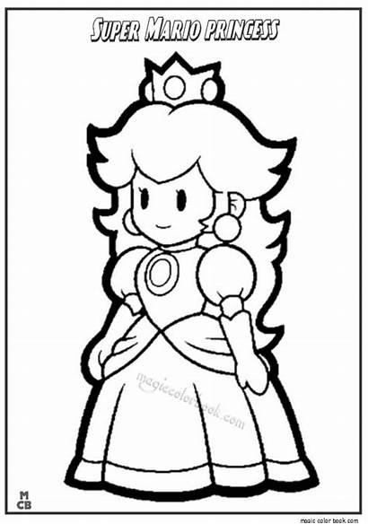 Mario Coloring Super Pages Princess Characters Bros