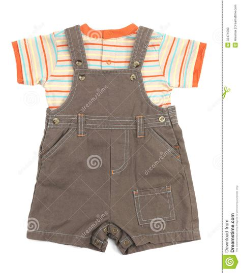baby overalls set of clothes stock image cartoondealer