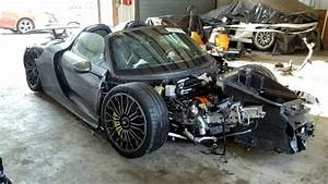 Porsche 918 Crashed At 92 Miles On Copart