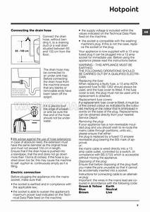 Hotpoint Fml 742 Front Load Washing Machine Instructions