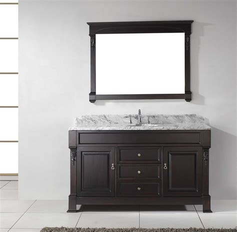 kitchen sink vanity virtu usa gs 4060 huntshire 60 quot single bathroom vanity set 2960