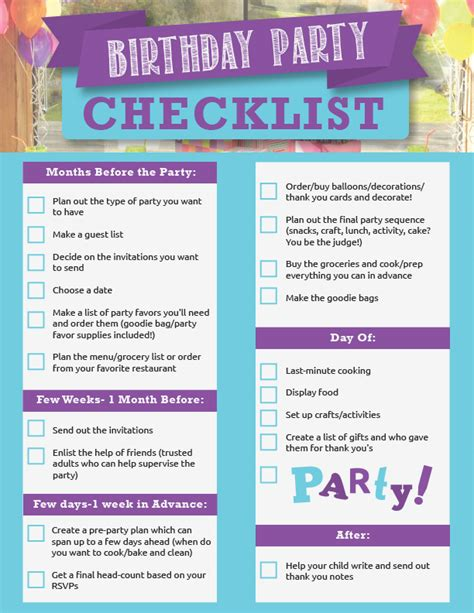 Carnival Birthday Checklist 4 Out Of This World Birthday Ideas Live Playfully
