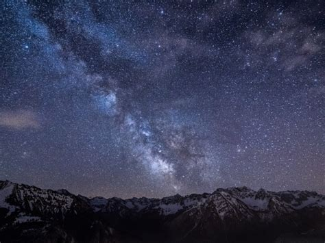 Wallpaper Amazing Milky Way Bad Hindelang Bavaria