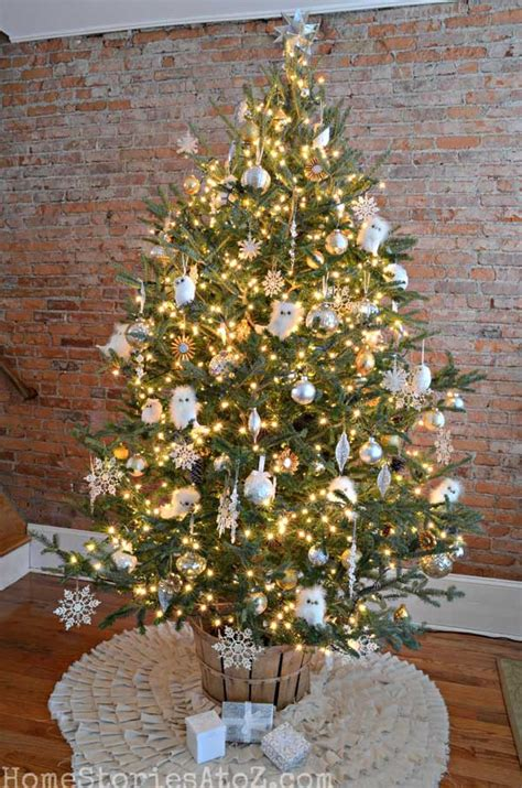 Best Decorated Christmas Trees In A Rustic Style  Rustic