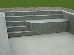 piscines traditionnelles marinal choisir son escalier de With escalier pour piscine beton