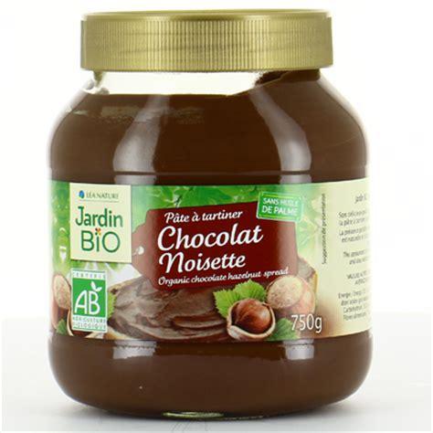 pate a tartiner bio sans huile de palme p 226 te 224 tartiner chocolat noisettes bio jardin bio 750 g la vie grande 233 picerie