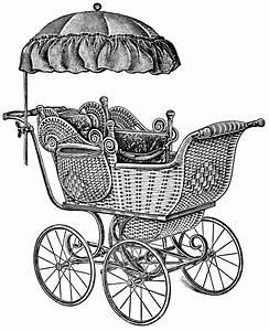 Baby Carriages ~ Free Vintage Clip Art | Old Design Shop Blog