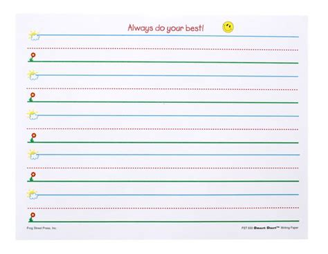 preschool handwriting paper best photos of landscape writing paper for kindergarten 858