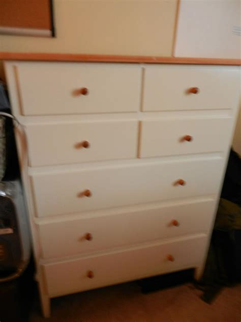 Ikea Visdalen Chest Of 7 Drawers White Pine Wood Top