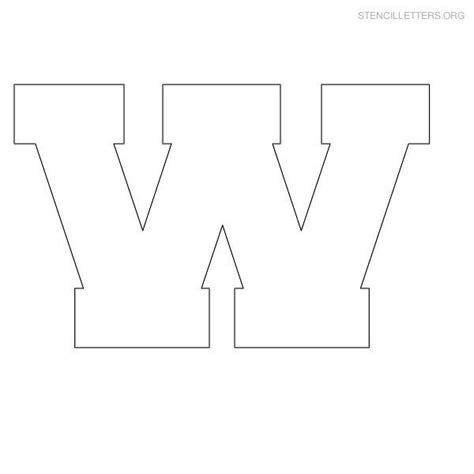 Block Letter Templates by Stencil Letter Block W Letter Templates Lettering