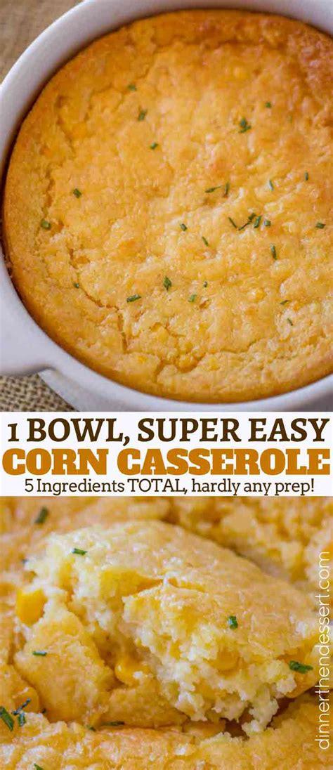 easy corn casserole just 5 ingredients dinner then