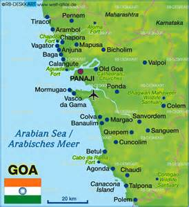 Map of Goa (India) - Map in the Atlas of the World - World ...