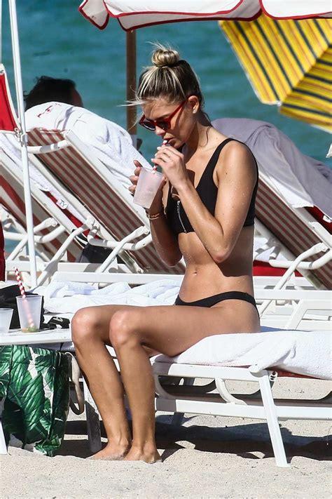 danielle knudson rocks a black bikini as she enjoys a ...