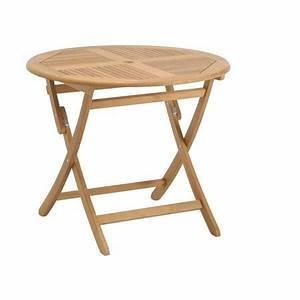 Table Pliante Ronde : table ronde pliante en teck fsc lake moraine plantes et jardins ~ Teatrodelosmanantiales.com Idées de Décoration