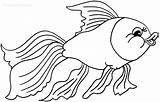Goldfish Coloring Pages Printable Drawing Bowl Cool2bkids Getdrawings Getcolorings sketch template