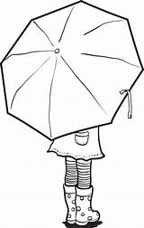 Umbrella Rain Drawing Coloring Colouring Stamps Crafts Getdrawings sketch template
