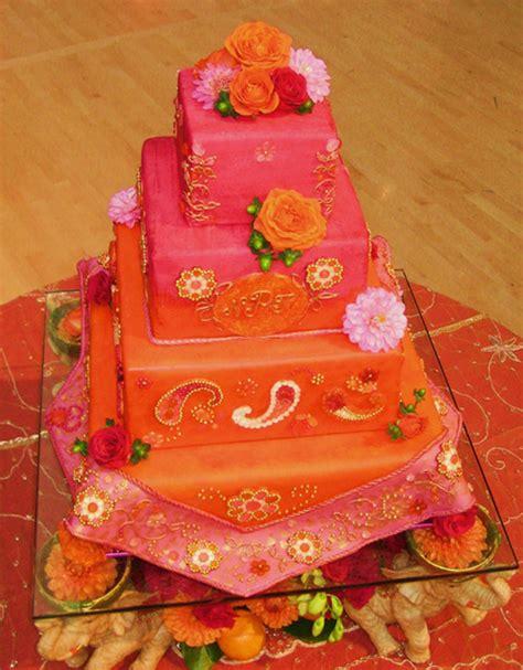 laniyahs blog orange  pink  tier wedding cake