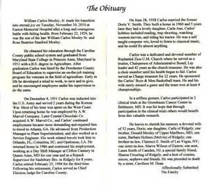Mitsawokett: Obituaries