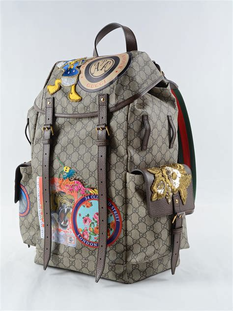 backpack gucci gucci backpack patch show 460029 k5i7t 8854 be eb multi