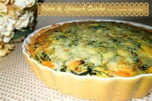 Ham and Cheese Quiche Recipe Spinach