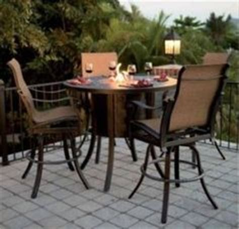 bar height patio table with pit 1000 images about bar height patio furniture on