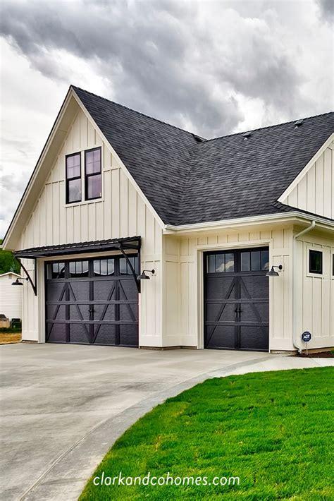 heartland   exterior   modern farmhouse home carriage style garage