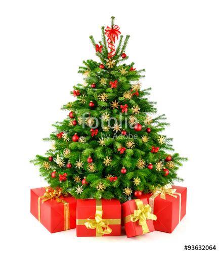 quot weihnachtsbaum mit strohsternen und geschenken