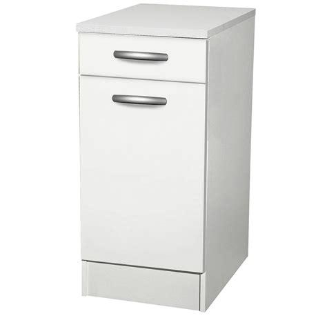meubles de cuisine blanc meuble de cuisine bas 1 porte 1 tiroir blanc h86x l40x
