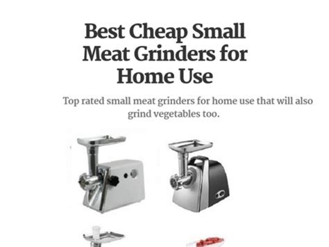 Best Recommended Small Meat Grinders for Home Use